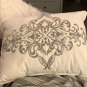 White Pillow and Grey Ombré Stiching